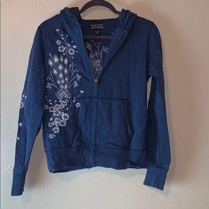 Lucky Brand embroidery peacock sweatshirt sz S